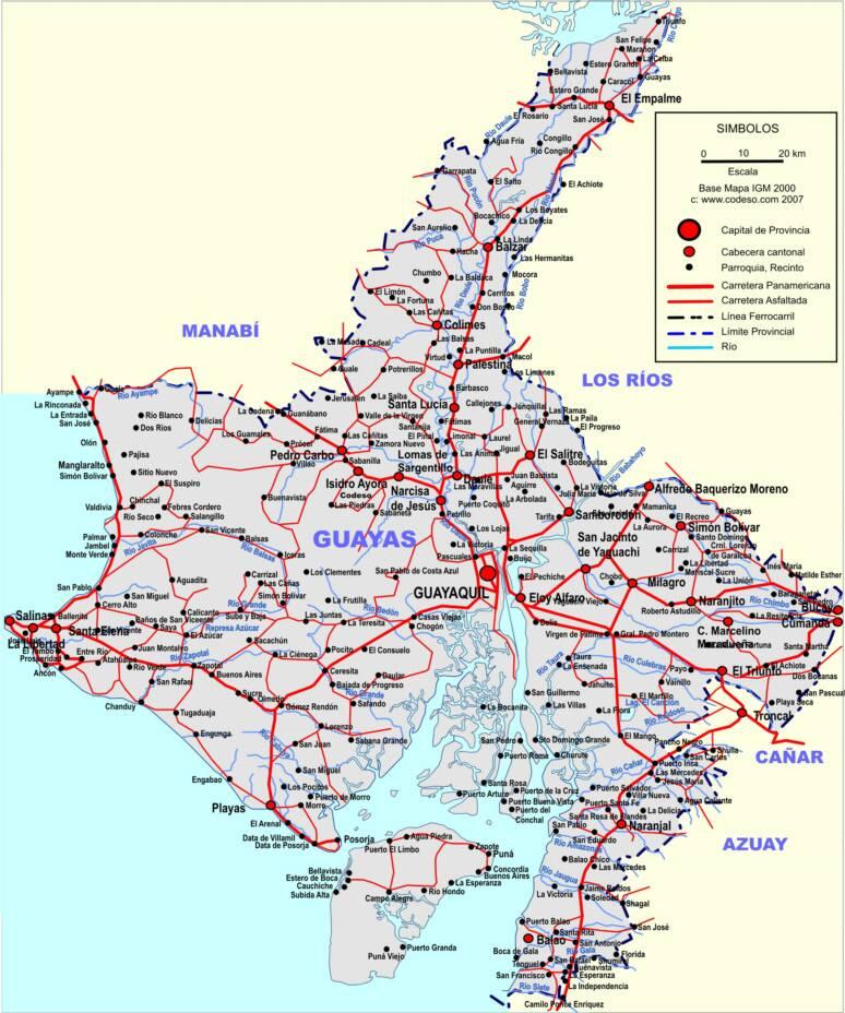 Mapa_Guayaquil_Ecuador